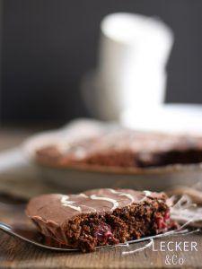 Super lecker - Nutella-Erdmandel-Kuchen mit Kirschen