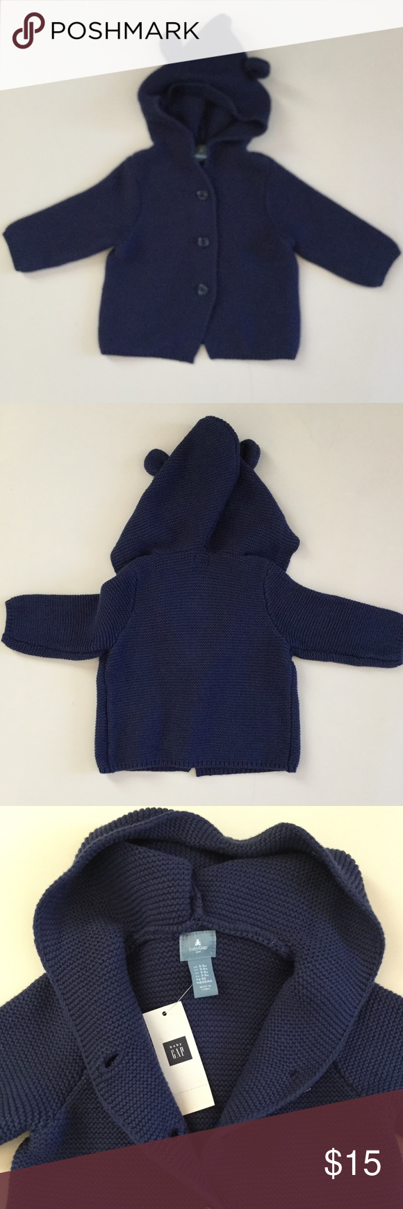 New with tags BABY GAP Hooded button up | Babies