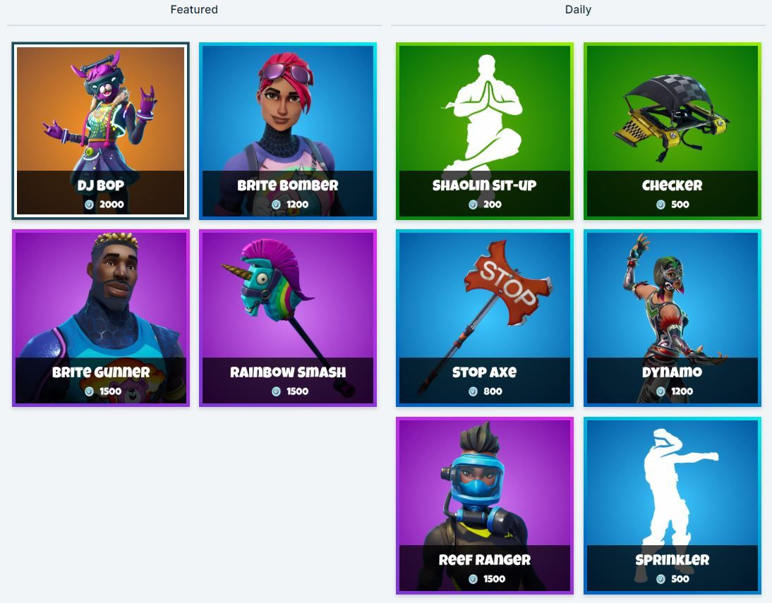 Fortnite Item Shop 2nd January All Fortnite Skins And Cosmetics New
