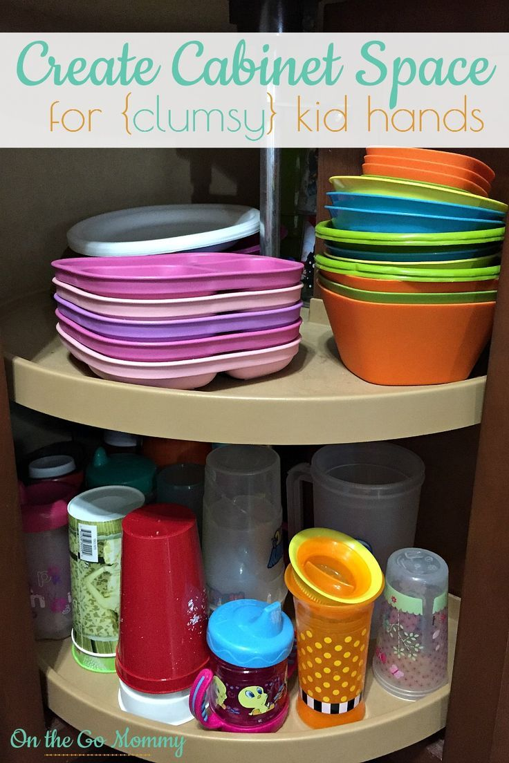 3 Reasons you should create space in your kitchen for a kids cabinet! It has been so helfpul and saves time throughout the day or evening. My kids can access it on their own which means they are able to get their own snacks and even set the table! Those little tasks add time to our day and this is a time saver!