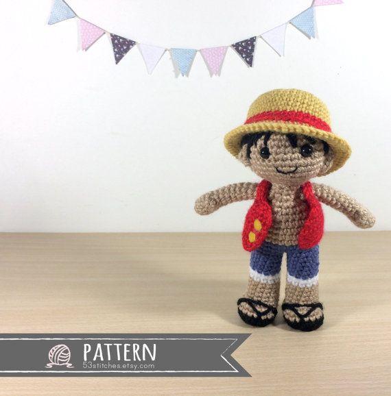 Monkey D Luffy Amigurumi Crochet Doll Pattern | Patterns | Pinterest ...