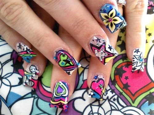 Crazy nail designs pictures choice image nail art and nail crazy acrylic nail designs images nail art and nail design ideas crazy nail designs pictures image prinsesfo Gallery