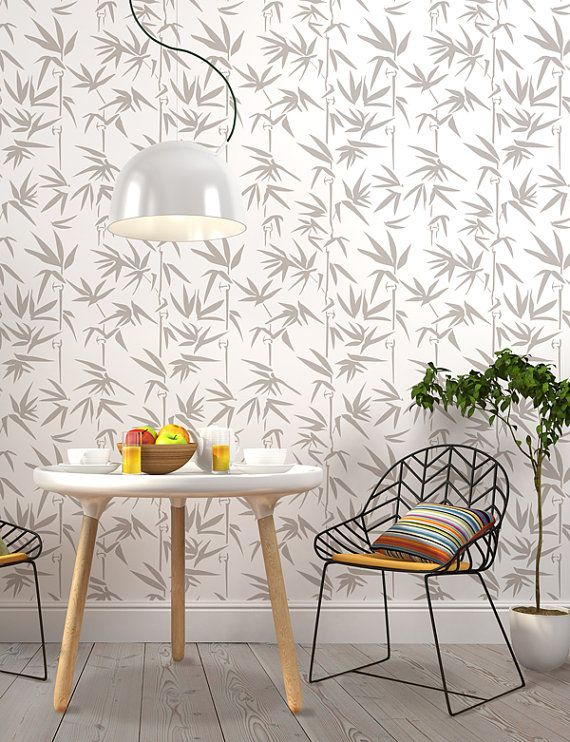 Decorative Scandinavian Bamboo Wall Stencil For Diy Projects Wallpaper Look And Easy Home Decor Design Means Quality By All