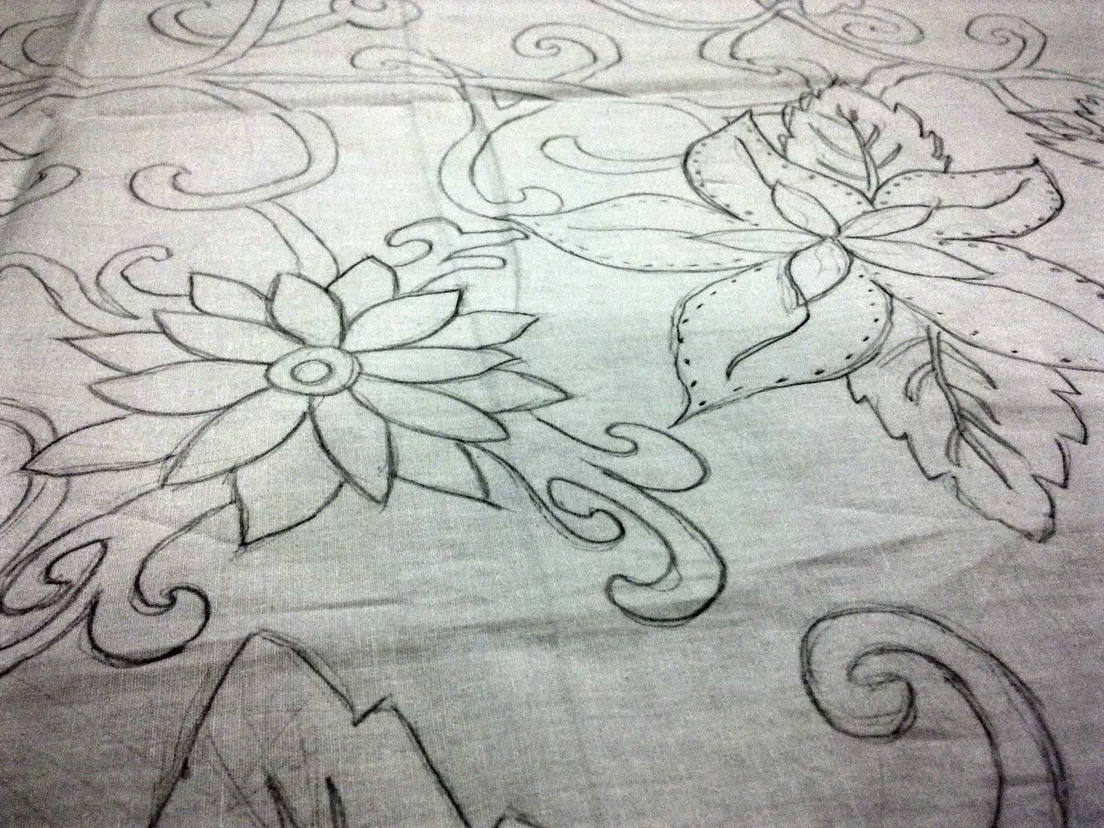Gambar Motif Batik Bunga 43 Sketsa Bunga Motif Batik Batik
