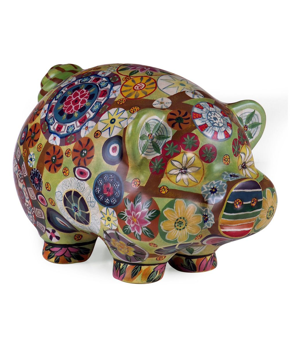Imax Folk Art Piggy Bank Art That I Love Accent Decor