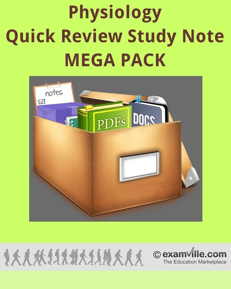 Physiology Quick Review Study Notes - Mega Pack | Study notes, Nclex ...