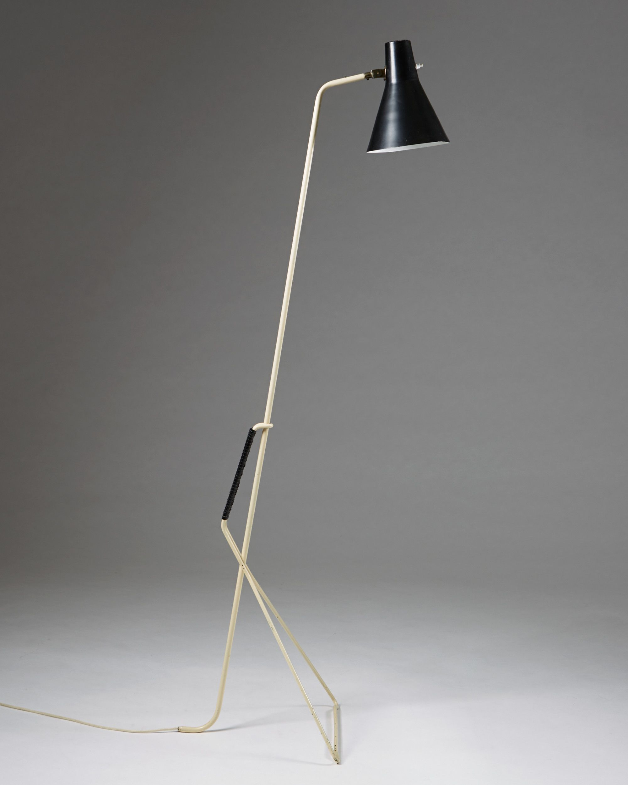 Svend Aage Holm Sørensen; Enameled Metal and Plastic Floor Lamp ...
