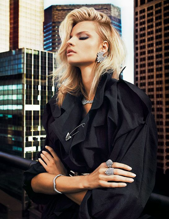 """Magdalena Frackowiak for Vogue Paris february 2013  by Txema Yeste in """" bijoux Graphique District"""""""