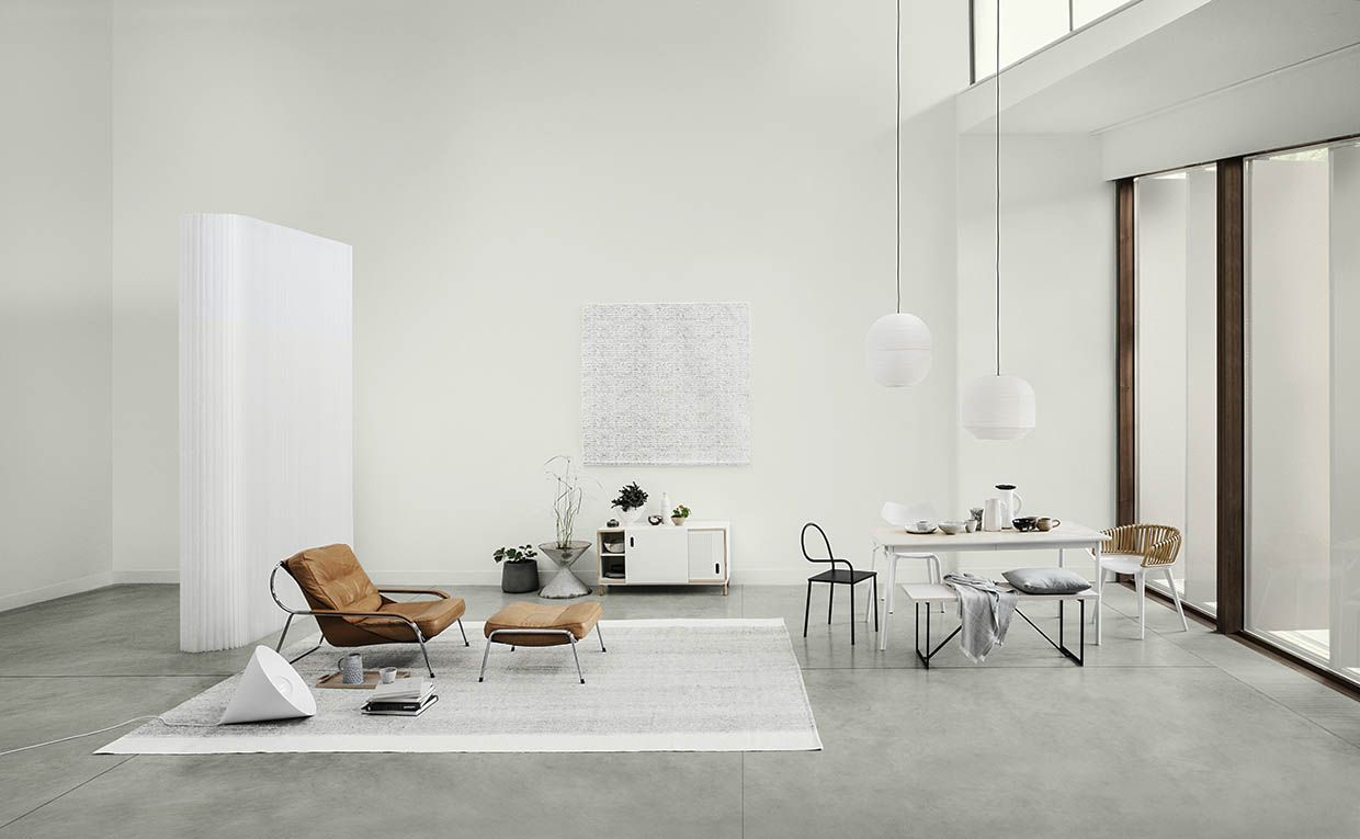 Layout, styling, home interiors, concrete, clean, minimal, neutral ...