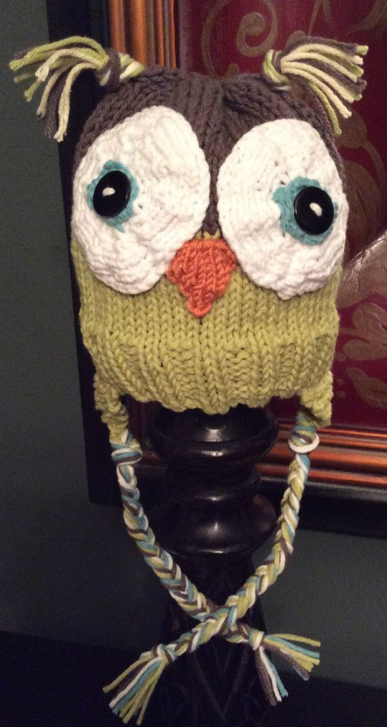 Owl Hat Loom Knitted 2 Free Loom Knit Patterns Instruction