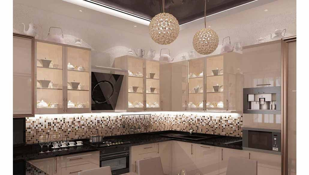 Luxury Modern Industrial Kitchens Design With Led Lighting Idea Under Glass Cabi… | Industrial ...