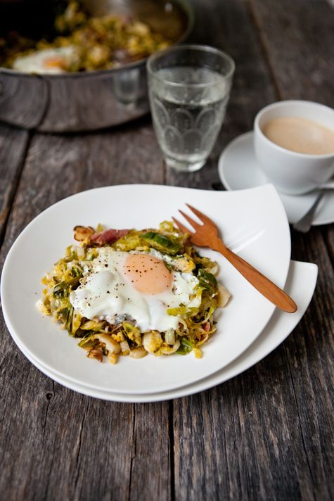 Brussel Sprouts breakfast hash