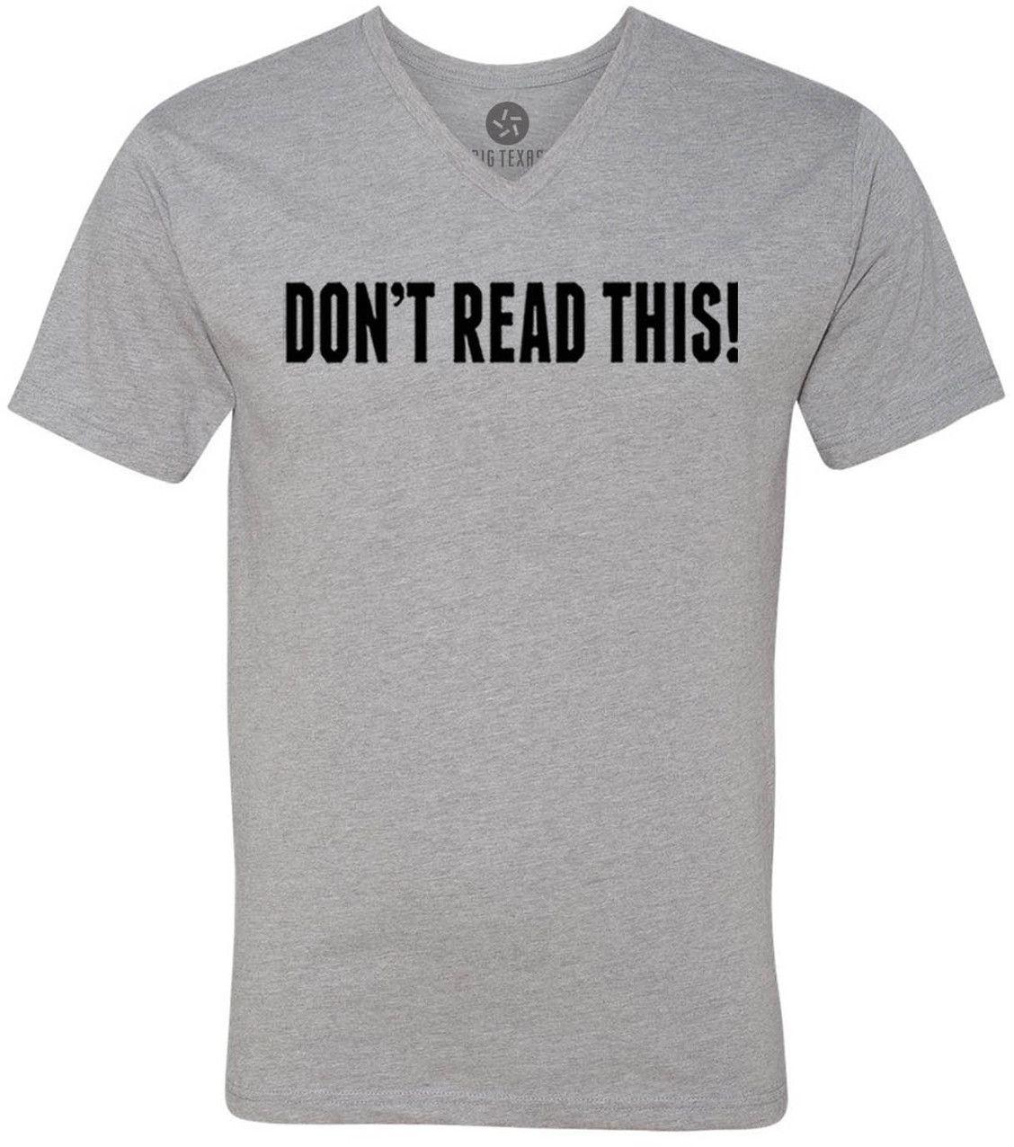Dont Read This (Black) Short-Sleeve V-Neck T-Shirt