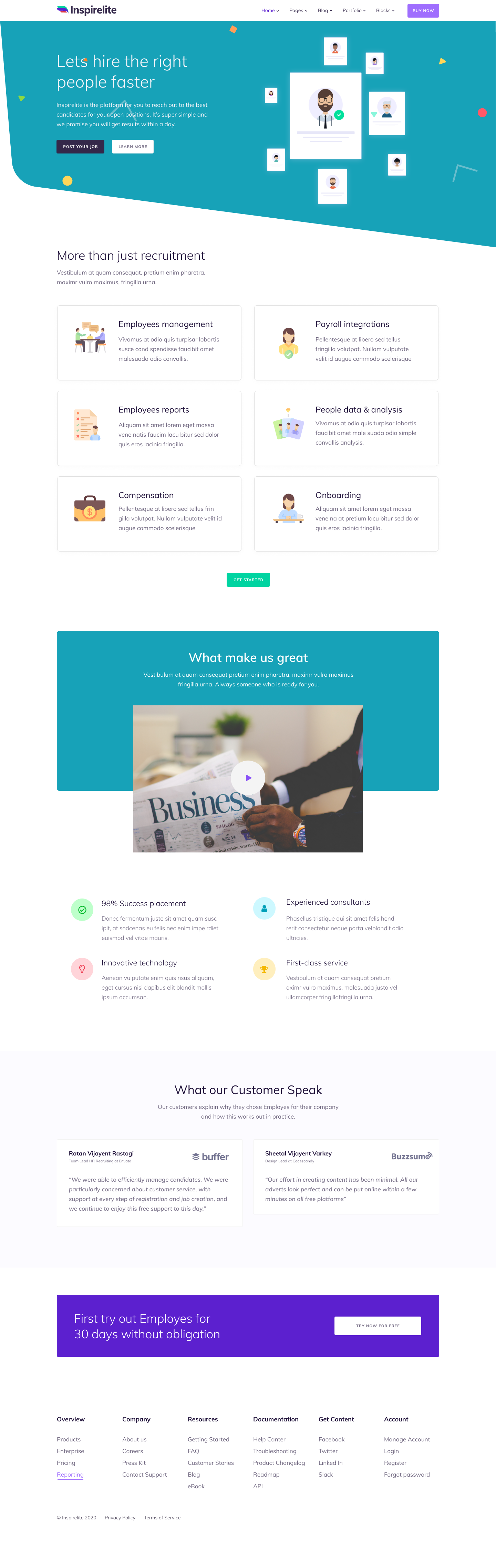 Hr Service Landing Page Template 2020 High Converting Leads In 2020 Website Design Consulting Website Website Template