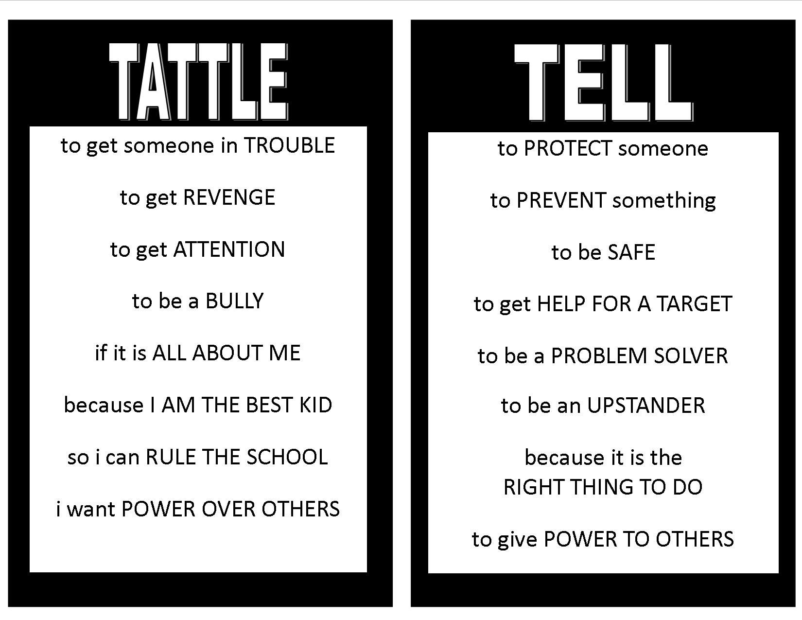 This Tattle Tell Poster Ties Into The Project Cornerstone