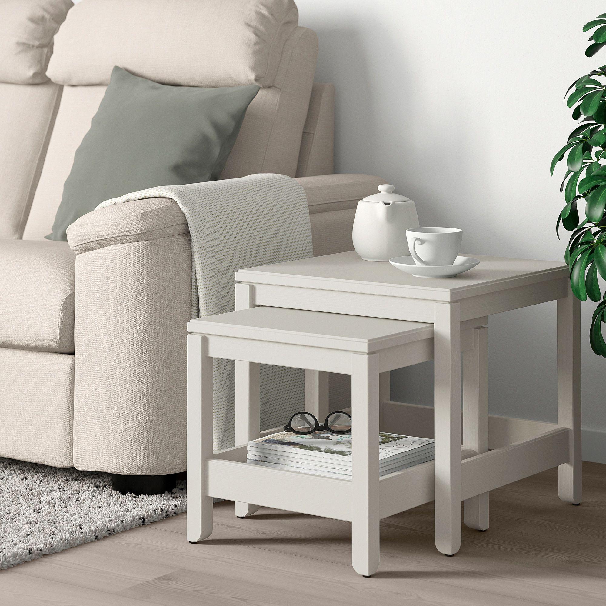 Ikea Havsta Nesting Tables Set Of 2 White In 2019
