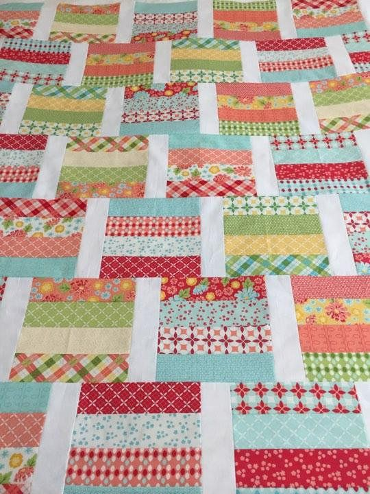 PDF Lap Quilt PATTERN....Quick and Easy...Jelly Roll & Layer Cake friendly...'ROUSHILL' ... Instant download