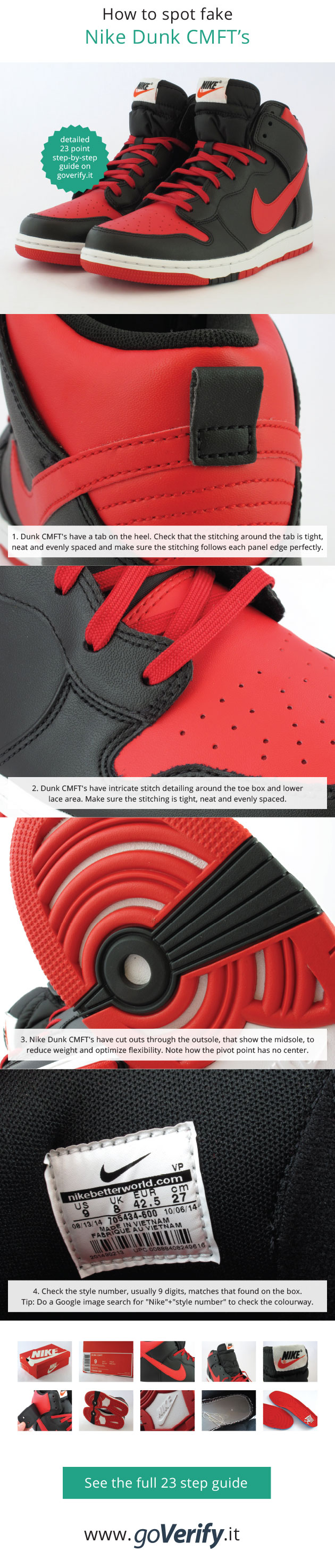 3d20bbd9d073 How to spot fake Nike Dunk CMFT s