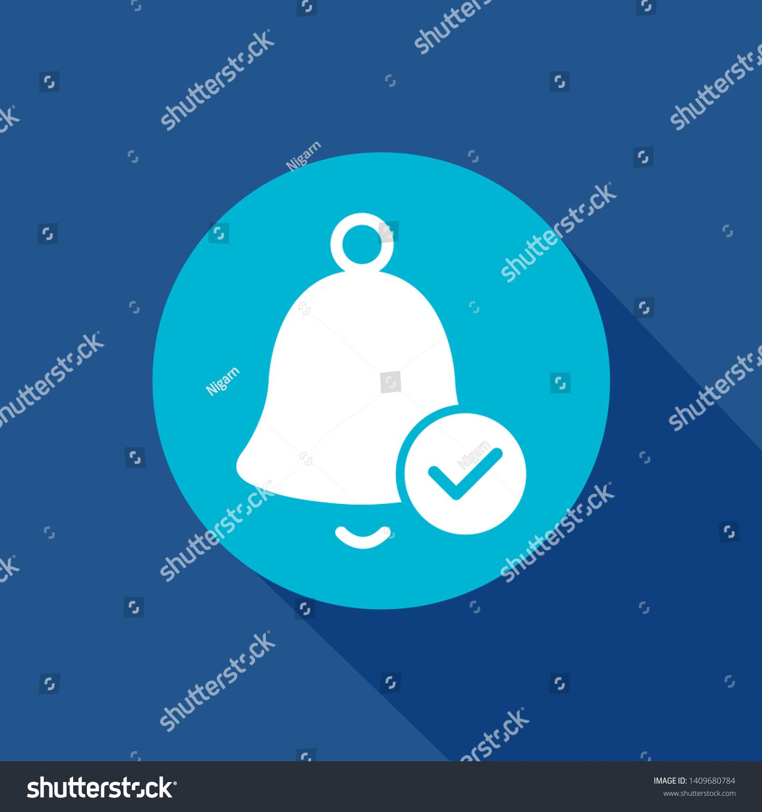 notification bell icon alarm alert hand bell reminder ring sign isolated sign symbol for web and mobile app