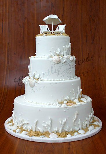 seaside wedding cakes elegantly iced gallery quot custom cakes quot a really 19717