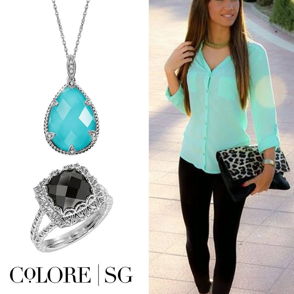 Style Inspiration: Mix bright blue & black for a lively look!