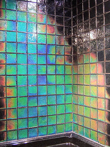 Moving Color Color Changing Northern Lights Shower Tiles Heat