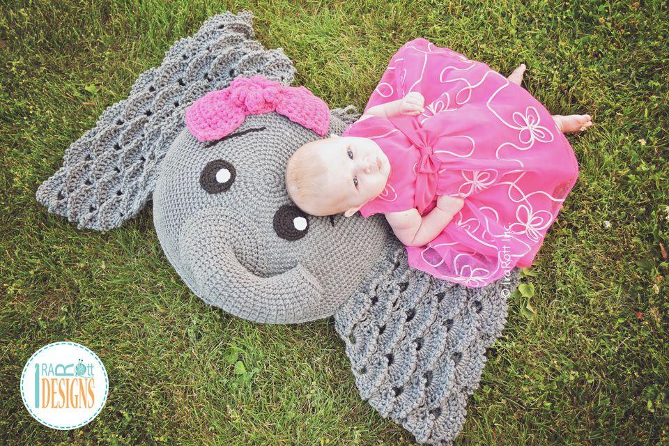 Josefina And Jeffery Elephant Pillow Pdf Crochet Pattern Ravelry