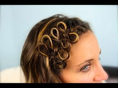 Bow braid headband video on cute girls hairstyles super simple bow braid headband video on cute girls hairstyles super simple braid that looks difficult but is very easy can be done as double row on crown or solutioingenieria Image collections