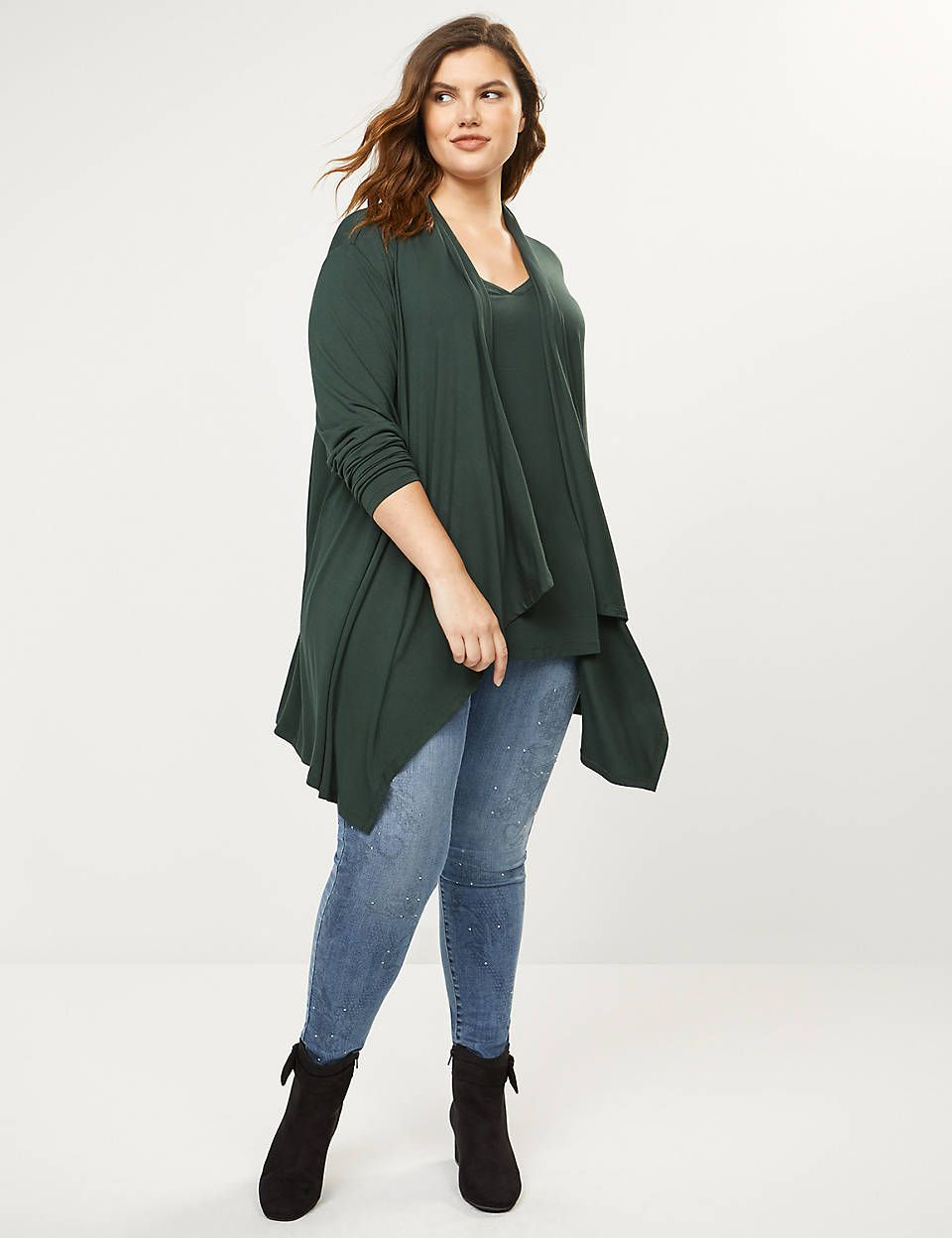 Lane Bryant Drape Front Overpiece In 2020 Plus Size Outfits Plus Size Casual Fashion