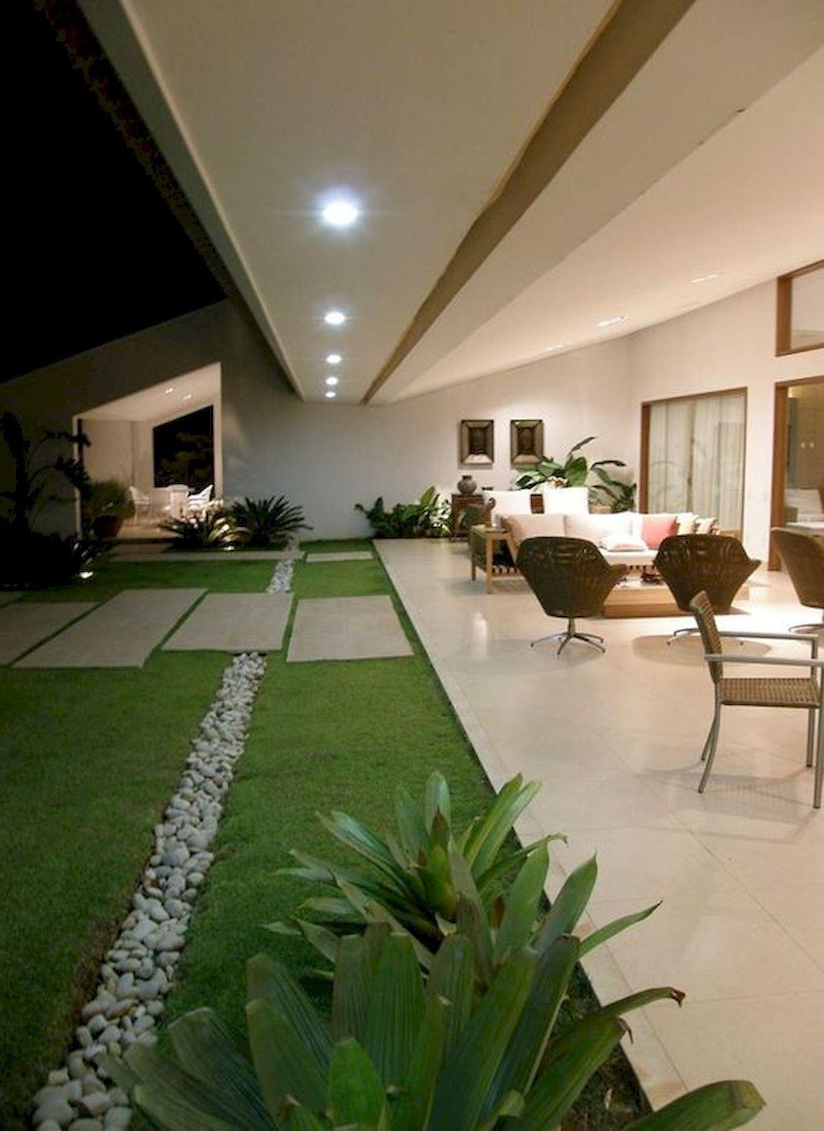 Photo of 40 impresionantes ideas modernas de diseños de jardines para el patio delantero y el patio trasero #paisajismo …