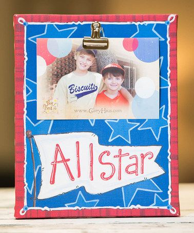 Loving this 'All Star' Clip Frame on #zulily! #zulilyfinds