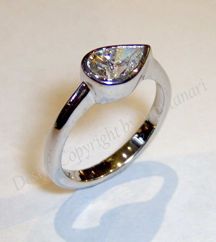 Engagement Rings Kansas City: Custom Made Pear Shaped Diamond Ring By Joseph Montanari
