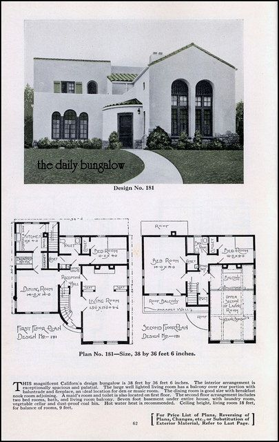 Bungalow House Plans Plan Service Co Late Twenties House Daily Bungalow Flickr Bungalow Floor Plans Spanish Bungalow Vintage House Plans
