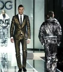 Gold and one silver mens suites by Dolce and Gabbana