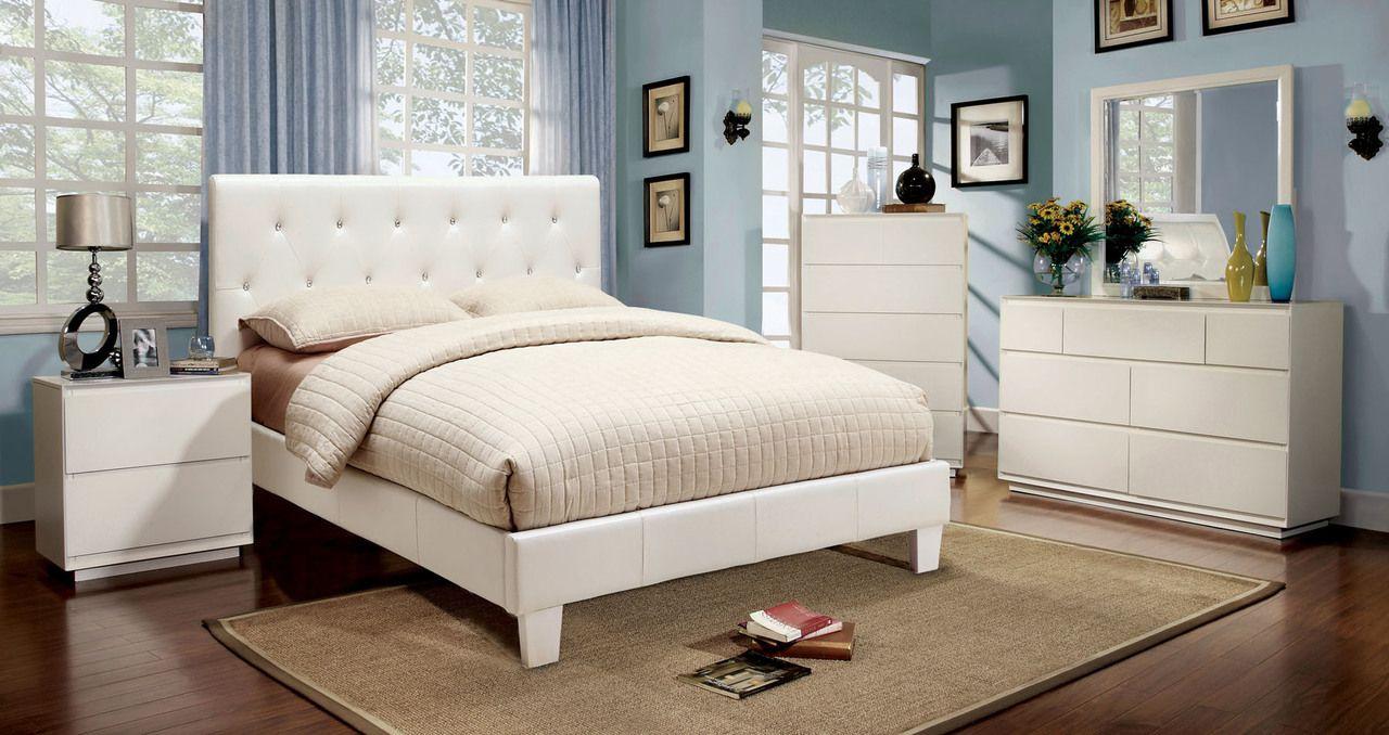 Furniture Of America Velen 4 Pcs Bedroom Sets  CM7949WH