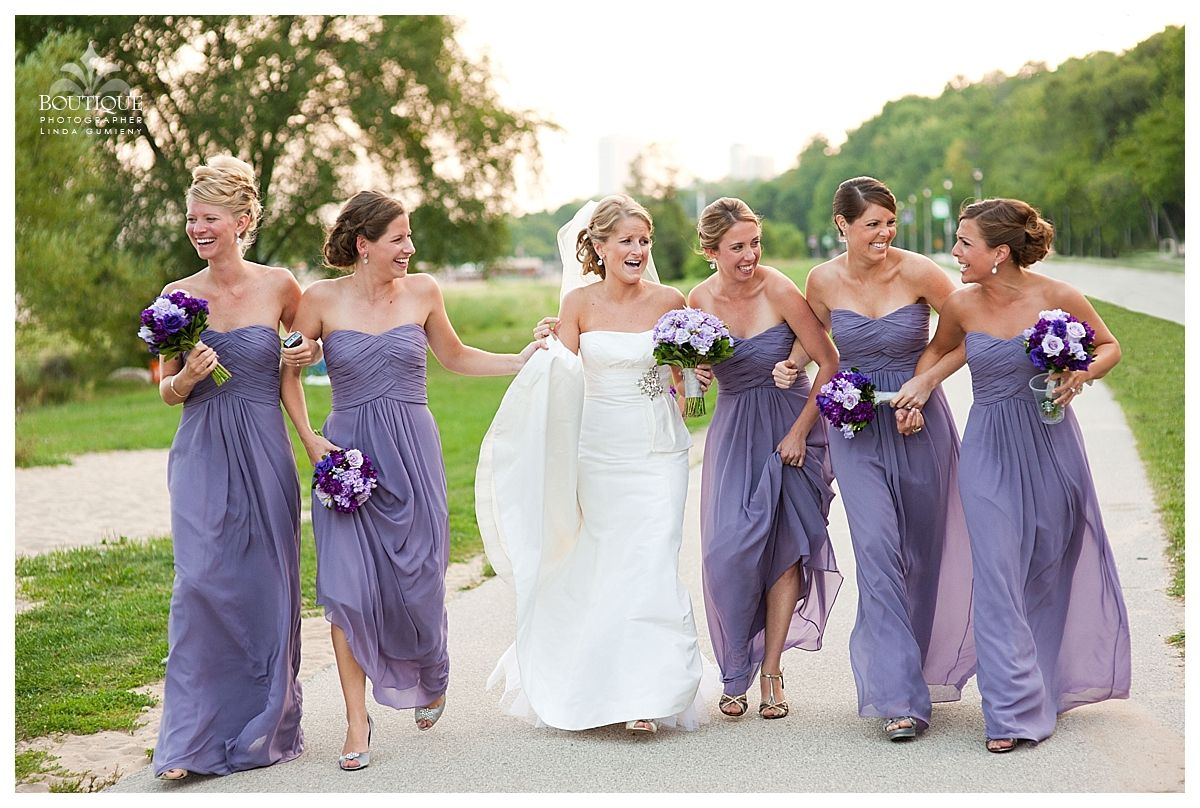 A tone on tone purple wedding from the fall of 2012 held at Lake Park Bistro. Linda, Owner-Operator at Boutique Photographer was kind enough to share the images. Florals by Stephanie McCready