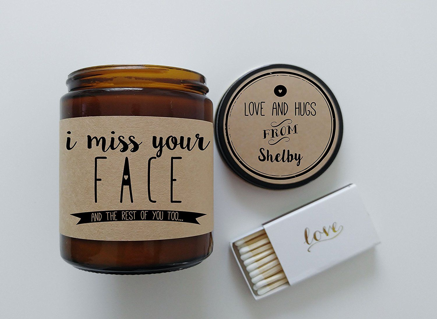 Long distance relationship gift missing you i miss your face candle