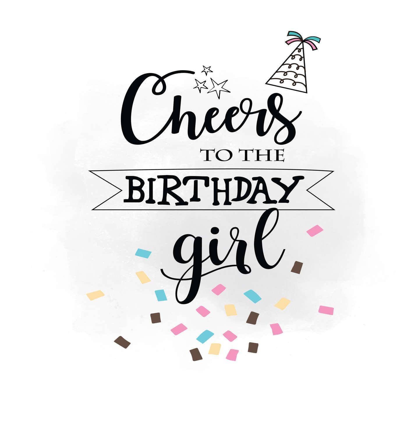 cheers to birthday girl svg clipart.20 Ideas for Birthday