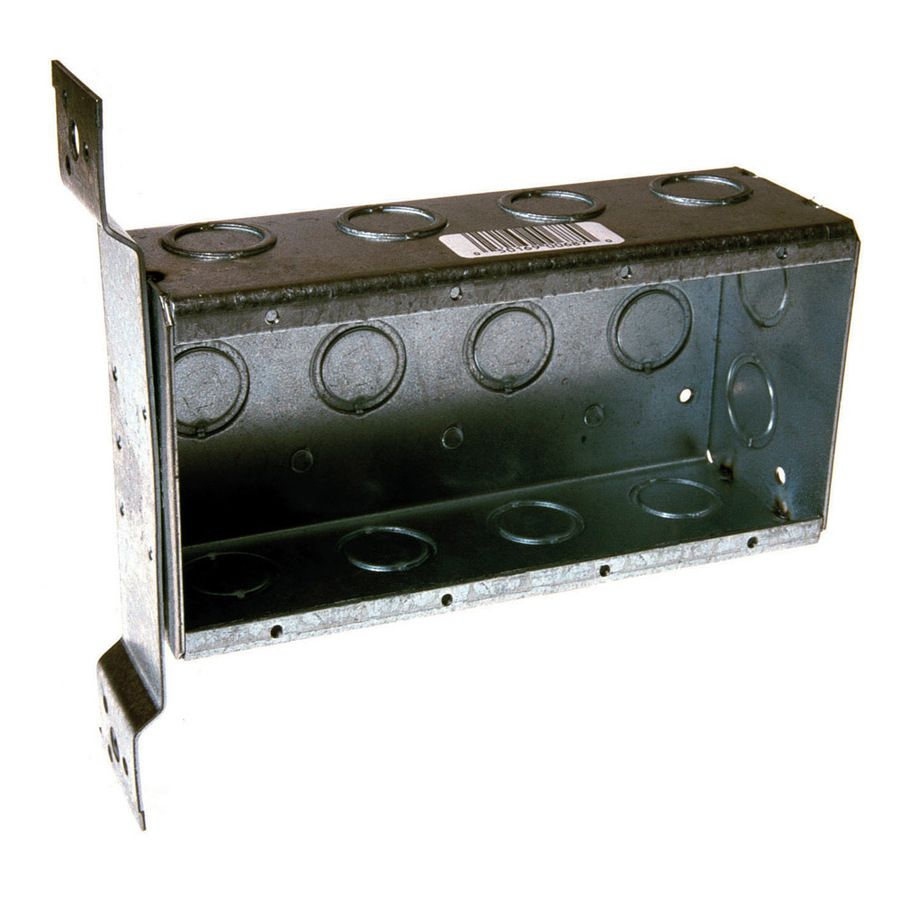 Raco 4 Gang Gray Metal New Work Standard Rectangular Wall Electrical Box Lowes Com Wall Boxes Work Boxes Pvc Wall