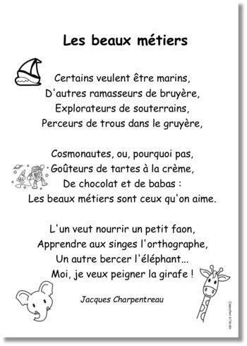 Jacques CHARPENTREAU : Les beaux métiers | Poésie | Math