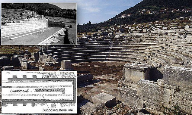 Ancient Greek theaters used movable stages on stone tracks   Greek