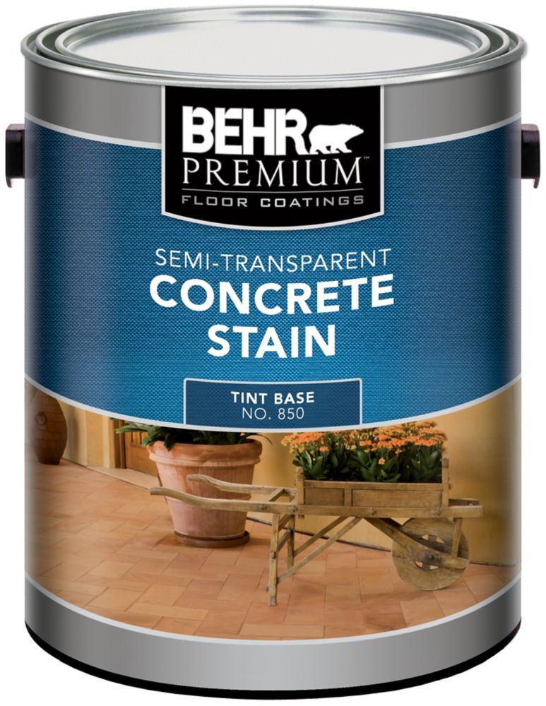 Behr semi transparent concrete stain 373l stained