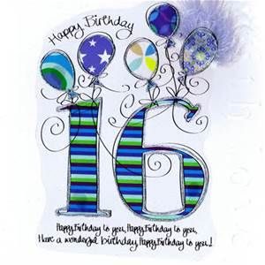 Ideas For 16th Birthday Card 16th Birthday Card Inspirational Cards Birthday Wishes For Son
