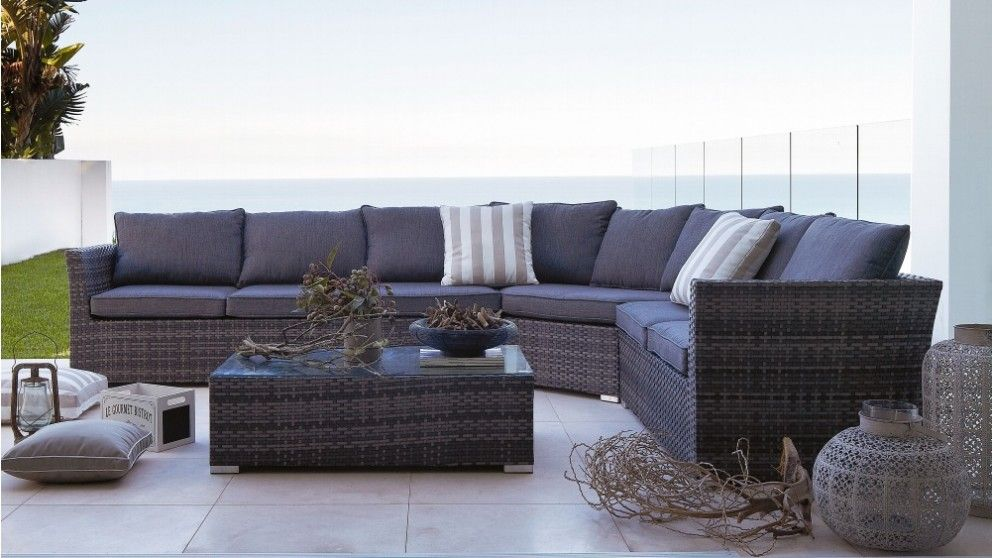 Phuket outdoor corner modular lounge suite with coffee for Outdoor furniture harvey norman