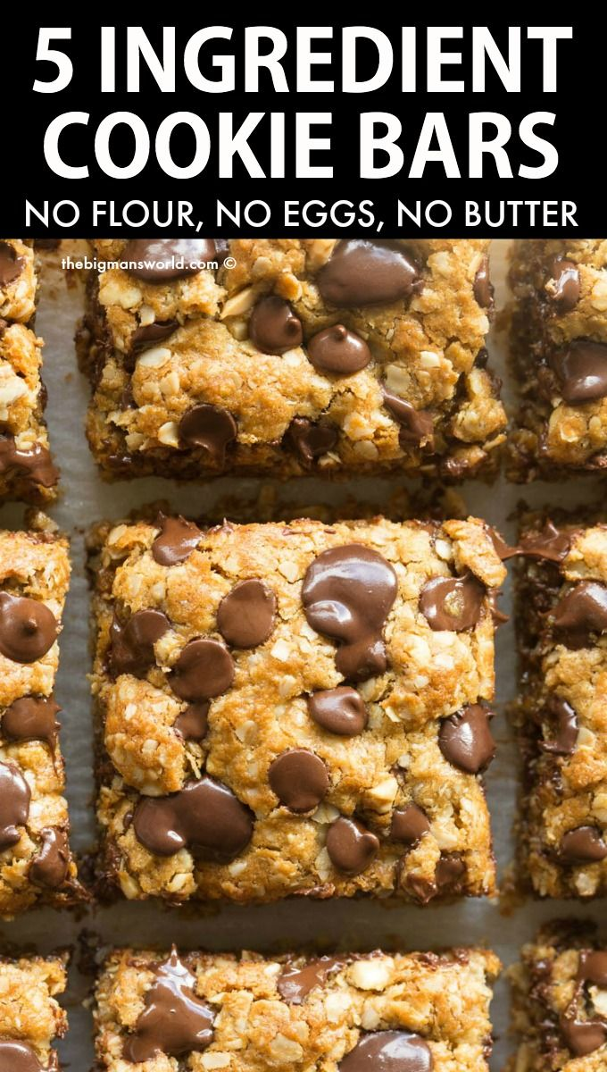 5 Ingredient Oatmeal Cookie Bars (Vegan, Gluten Fr