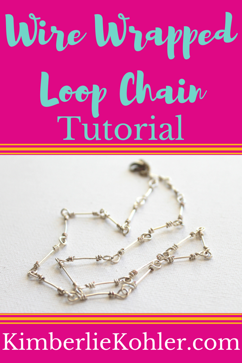 Wire Wrapped Loop Chain Tutorial | JEWELRY 101/PROJECT/TIPS(NEW ...