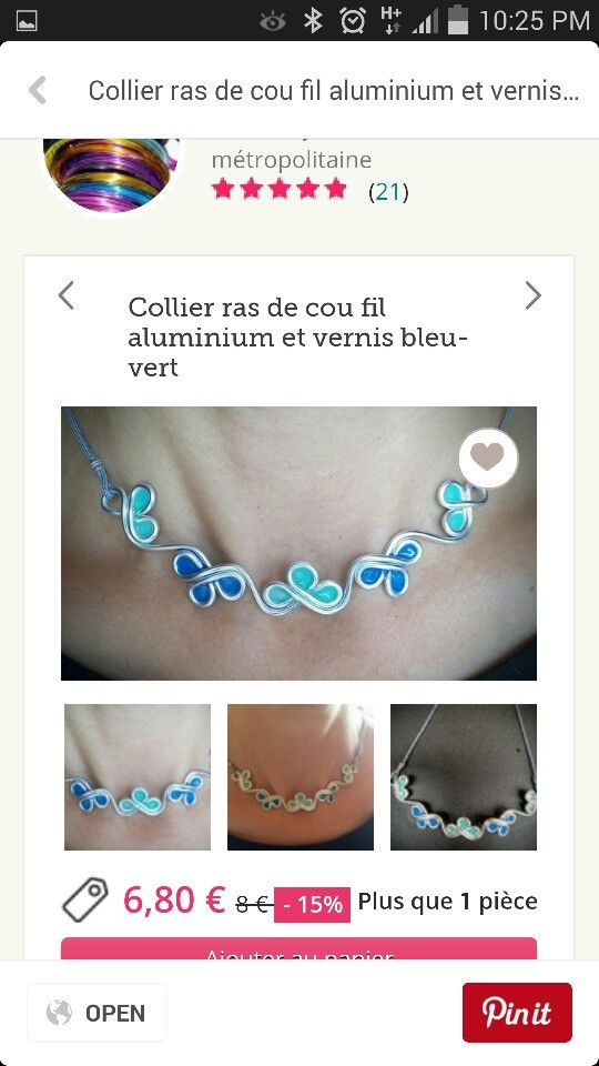 Aluminium wire necklace with nail polish or glue | Jewelry | Pinterest