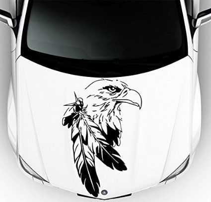Car Decals Hood Decal Vinyl Sticker Eagle Bird Predator Feather - Best automobile graphics and patternsbest stickers on the car hood images on pinterest cars hoods