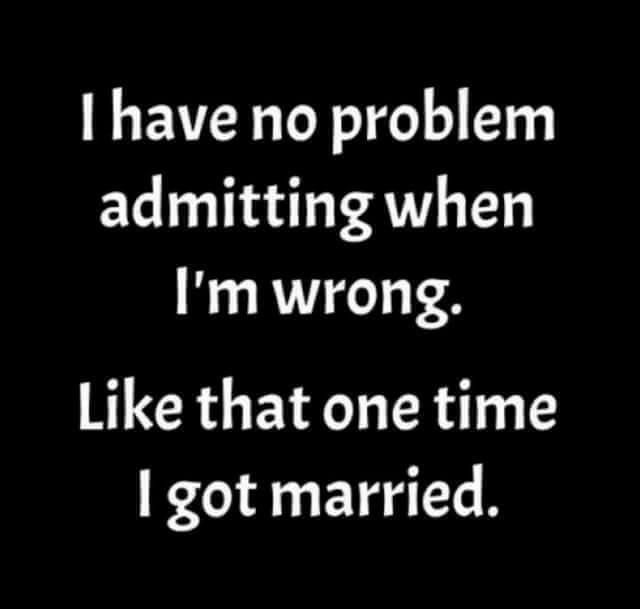 I Admit it, I was Wrong!