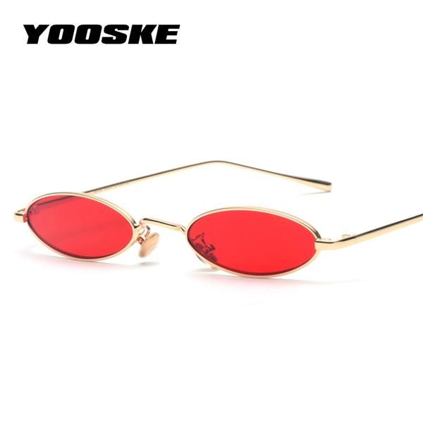 Small Sunglasses Women Men Retro Metal Glasses Transparent Yellow Lens Female Sun Glasses UV400